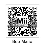 QR Code for Bee Mario by Toon and Anime