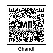 QR Code for Mahatma Gandhi by Eric